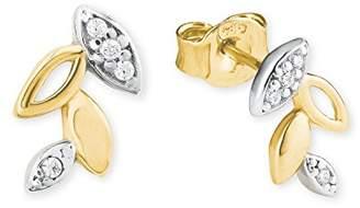 Amor Women Yellow Gold Stud Earrings - 2019936