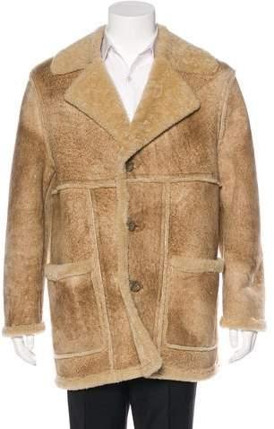 Dolce & Gabbana Shearling Notch-Lapel Coat