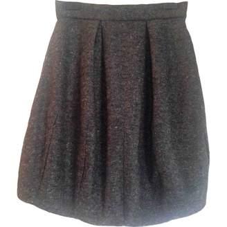 Maria Grachvogel Grey Wool Skirt for Women