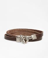 Brooks Brothers Leather Wrap-Around Bracelet