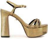 Schutz Embossed Platform Sandals