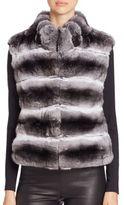 The Fur Salon Quilted Chinchilla Fur Vest