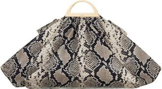 THE VOLON Gabi Snake Embossed Leather Top Handle Bag