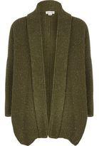 River Island Girls Khaki metallic knit open cardigan