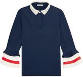 GANNI - Naoki Stretch-jersey Polo Shirt - Navy