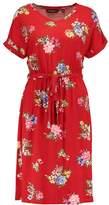 Dorothy Perkins FLORAL V NECK Jersey dress red