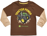 John Deere Brown Khaki 'Tractor Power' Layered Tee - Toddler