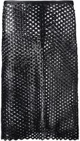 Isabel Marant cut out panel skirt - women - Cotton/Goat Skin/Polyester - 1