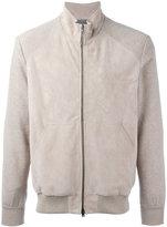 Herno panel bomber jacket - men - Cotton/Calf Leather/Polyester/Viscose - 50