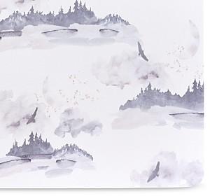 Oilo Studio Misty Mountain Jersey Crib Sheet