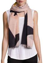 Stella McCartney Colorblock Star-Print Silk & Modal Scarf