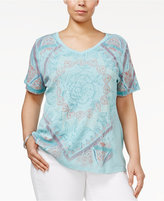 Style&Co. Style & Co Plus Size Printed T-Shirt, Only at Macy's