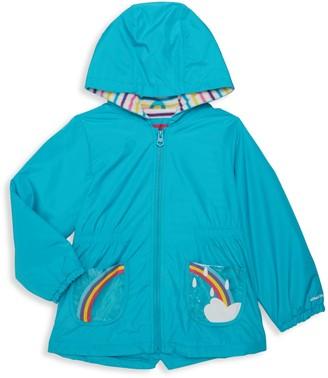 London Fog Little Girl's Rainbow Hooded Jacket