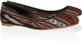 Twelfth St. By Cynthia Vincent Sage woven cotton ballet flats