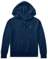 Ralph Lauren Girls' Wool-Blend Hooded Sweater Top - Big Kid