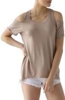 LAmade Women's Cold Shoulder Short Sleeve Tee