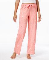Hue Printed Cotton Jersey Pajama Pants