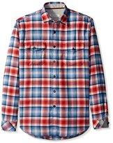 James Campbell Men's Baxter Plaid Long Sleeve Sportshirt