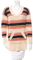 Tory Burch Open Knit Striped Sweater