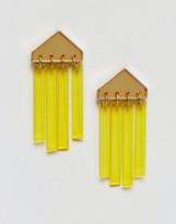 Asos Perspex Fringe Earrings