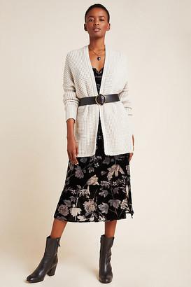 Anthropologie Twyla Waffle-Knit Cardigan By in Grey Size XS