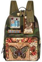 Valentino Camouflage Mariposa Backpack