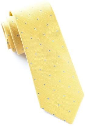 Tie Bar Bulletin Dot Yellow Tie
