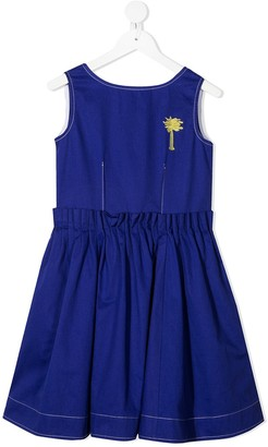 Marni Contrast Placket Flared Dress