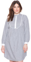 ELOQUII Plus Size Bib Front Shirt Dress