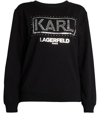 Karl Lagerfeld Paris Embellished Logo Sweatshirt