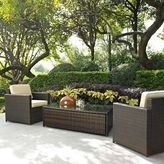 Crosley Palm Harbor Collection 3-Piece Outdoor Wicker Seating Set in Brown