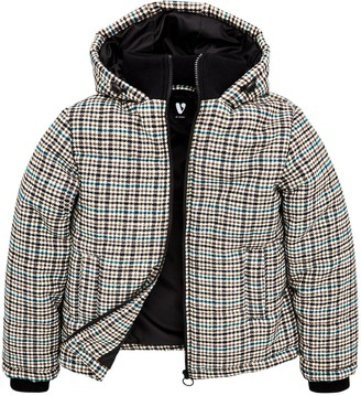 Very Boys Padded Checked Jacket - Grey