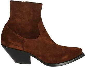 Buttero Zipped Ankle Boots