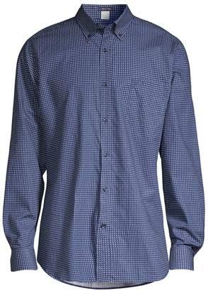 Paul & Shark Regular-Fit Dot-Print Cotton Sport Shirt