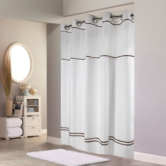 Hookless Plain Weave Monterey Lined Shower Curtain