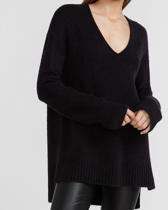 Express Cozy Hi-Lo V-Neck Sweater