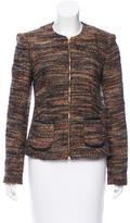 L'Agence Bouclé Leather-Trimmed Jacket