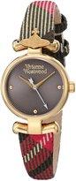 Vivienne Westwood Women's VV090CHBR Maida Analog Display Swiss Quartz Multi-Color Watch
