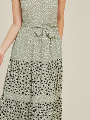 Fat Face Nita Double Spot Maxi Dress - Pistachio