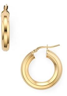 Argentovivo 18K Gold-Plated Sterling Silver Medium Tubular Hoop Earrings