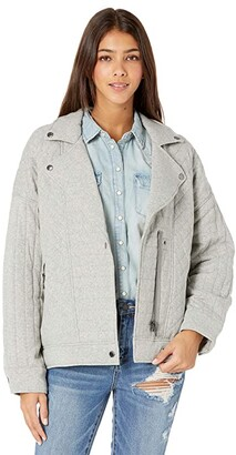 Blank NYC Knit Quilted Moto Jacket (Easy Day) Women's Clothing