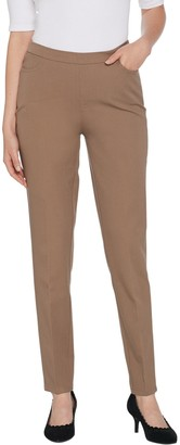 Isaac Mizrahi Live! Petite 24/7 Stretch Slim Leg Pants with Pockets