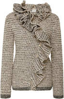 Lanvin Ruffled Tweed Cardigan