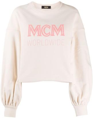 MCM Logo-Print Oversized Sweatshirt