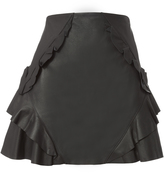 Derek Lam 10 Crosby Leather Ruffle Mini Skirt