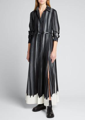 Altuzarra Striped Silk Midi Dress