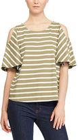 Ralph Lauren Jersey Cold-Shoulder Top