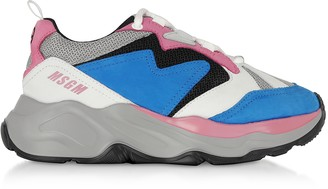 MSGM Light Blue Attack Sneakers