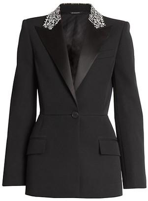 Givenchy Embellished Collar Wool Jacket