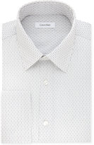 Calvin Klein Men's STEEL Big & Tall Classic/Regular Fit Non-Iron Performance Blue Stripe French Cuff Dress Shirt